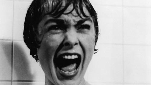 Una celebre scena di Psyco, diretto da Alfred Hitchcock (1960)
