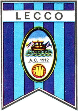 Lo stemma del Lecco negli anni Sessanta (Album Calciatori Panini 1965-66)