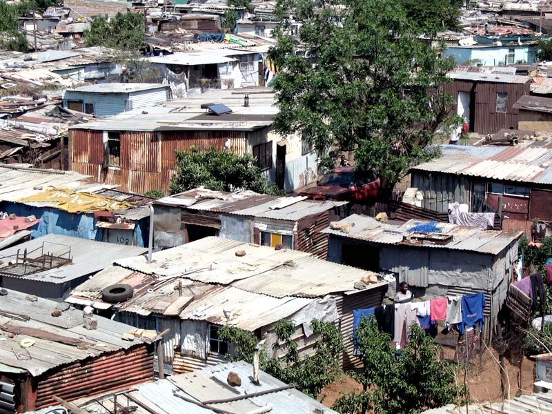Quartiere-ghetto di Soweto, periferia di Johannesburg