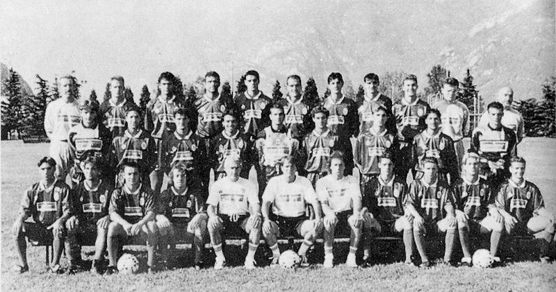 Il Como, la prima squadra che da quinta in C salì in B (Gir. A 93-4, Como [5°]-Mantova [3°] 2-1 0-0, Como [5°]-SPAL [2°] 2-1) (Almanacco Panini 1995)