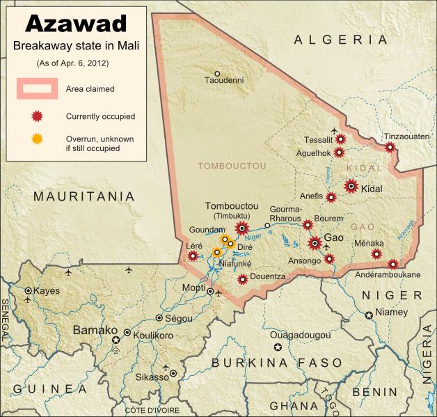L'Azawad proclama l'indipendenza, 6 aprile 2012