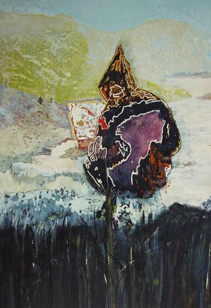 Figure in Mountain Landscape (1997-8) di Peter Doig – www.artofothers.com