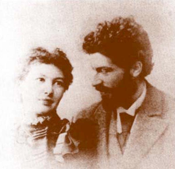 Michele Besso e la moglie Anna in una foto del 1898 – www.aip.org